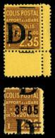 N°134, 2.05f S 2.35f Brun Jaune, 1ex Surcharge à Cheval Cdf + Ex* Surcharge 'D' à Cheval. TB  Qualité: **  Cote: 465 Eur - Mint/Hinged