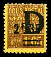 N°131, 2F35 Sur 1F65 Surchargé 'D', Fraîcheur Postale, SUP (certificat)  Qualité: **  Cote: 1350 Euros - Mint/Hinged