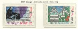 PIA  -  BELGIO  -  1985  :  Europa - Anno Della Musica   (Yv  2175-76) - Europa-CEPT
