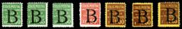 N°101/7, Série Surchargée 'B', Les 7 Valeurs TB  Qualité: *  Cote: 840 Euros - Neufs