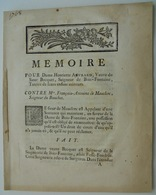 (17) Vouhé-Surgères, Procès Becquet De Bois-Fontaine-Mauclerc - Documentos Históricos