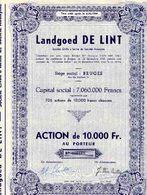 Landgoed DE LINT; Action De 10.000 F - Banque & Assurance