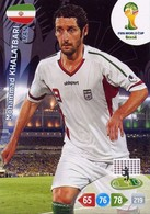 CARTE PANINI ADRENALYN COUPE DU MONDE FIFA BRESIL 2014 IRAN MOHAMMAD KHALATBARI - Trading Cards