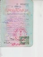 Saudi Arabia Revenue Stamps Pakistan Documents     (Red-2607) - Saudi Arabia
