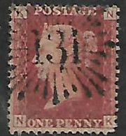Great Britain, Queen Victoria, 1d Red, Perforated, SG 43 / 44,  Plate  104 Used - 1840-1901 (Victoria)