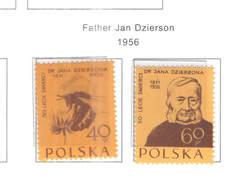 Polonia PO 1956 Padre Dsierson Scott.744+745 See Scan On Scott.Page; - 1944-.... Repubblica