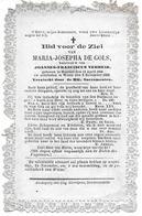 De Gols Maria Josepha (moorsel 1816 -wieze 1867) - Religion & Esotérisme