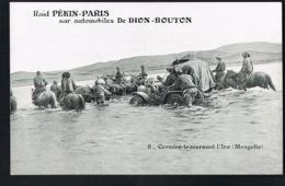 MONGOLIE - Raid Paris-Pekin Sur Automobiles De DION-BOUTON- Cormier Traversant L'Iro- Mongolie - Mongolie