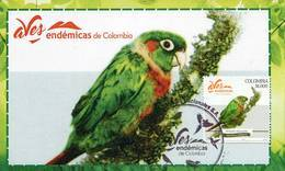 Lote PEP1034, Colombia, 2018, Entero Postal Stationery, Postcard, Aves Endemicas, Bird, Periquito Aliamarillo - Colombia