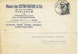 CP Publicitaire VIELSALM 1942 - Maison Léon COTTIN-FRAITURE & Fils - Fourrages, Grains, Engrais, Charbon... - Vielsalm