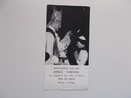 Devotieprent : Herinnering H. Vormsel , Manuscript: Martine HOSTIJN  9 Juni 1964 Brugge ? - Communion
