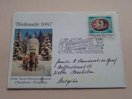 WEIHNACHT 1987 ( Zie/voir Foto's Voor/pour Détails ) 13.12.1987 Christkindl 4411 ! - FDC
