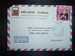 LETTRE Pour La FRANCE TP MORT DE RAOUL FOLLEREAU F OBL.7-1 88 POINTE NOIRE RP DEPART CONGO + LIBRAIRIE PAILLET - Oblitérés