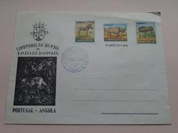 """EMISSAO """" ANIMALS """" 1° Dia PORTUGAL - ANGOLA 15-Ago-1953 ( Zie/voir Foto's Voor/pour Détails ) Printed Stamps > 2 Pcs. ! - FDC"""