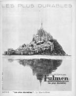 """PUB BATTERIE  """"  FULMEN   """"  Et Le """" MONT-SAINT-MICHEL """"   1933 (2) - Transportation"""