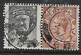 Great Britain, GVR, 1924, 1 1/2d & Advert Pane, Used LONDON 2 FE 35 - 1902-1951 (Kings)