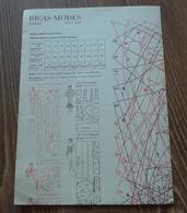 Sewing Pattern From Latvian Fashion Magazine Rigas Modes Summer 1987 Slav Language - Books, Magazines, Comics