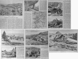 """A TRAVERS Le VIVARAIS Et Le VELAY """" VALS-LES-BAINS/  SAINT-AGREVE/ SAINT CIRGUES / MONTPEZAT """"   1933 - Auvergne"""