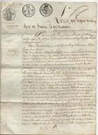 Acte Notarial Notaire Guillochon Briouze Orne Manuscrit Vente Lefoyer Leroi à Bernier 1812 (4 Pages) - Manoscritti