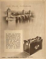 """PUB BATTERIE  """"  FULMEN   """"  Et LE VIEUX PONT De CAHORS  1933 (5) - Transportation"""