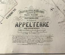 P.C. POPP - Plan APPELTERRE - Atlas Cadastral Arrondissement D'Audenarde Canton Ninove - Oudenaarde Kaart Map - Cartes