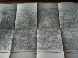 CARTE TOPO. ETAT-MAJOR TYPE 1889 PARIS EST JUSQU'A FORET D'ARMAINVILLIERS ET FRESNES - Carte Topografiche
