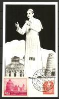 PAPA PAOLO VI Cartolina Congresso Eucaristico A Pisa  Bellissima - Papi