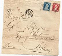 - ILLE Et VILAINE - RENNES - CHARGE - PC Du GC 3112 S/N°22+24 Càd T.15 - 1866 - 1862 Napoleone III