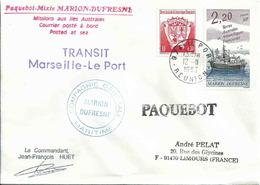 YT 172 - Armoiries - YT 174 - 20 Ans Du Marion Dufresne - Transit Marseille Le Port - 12/11/1993 - Ships