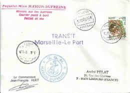 YT 1356 - Déesse - Lettre Postée à Port Saïd (Egypte) - Transit Du Marion Dufresne Marseille Le Port - Mythology