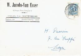 PK Publicitaire WATERSCHEI 1952 - W. JACOBS- VAN ESSER  - Drukkerij - Boekhandel - Boekbinderij - Genk