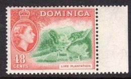 DOMINICA - 1954 QE II DEFINITIVE 48c STAMP FINE MNH ** SG154 - Dominica (...-1978)