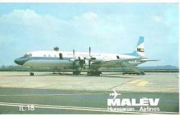 AIRPLANE * AEROPLANE AIRCRAFT * IL18 * HUNGARIAN AIRLINES FERIHEGY AIRPORT BUDAPEST * CALENDAR * Malev 1979 1 * Hungary - Calendars