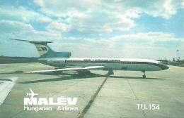 AIRPLANE * AEROPLANE AIRCRAFT TU 154 * HUNGARIAN AIRLINES FERIHEGY AIRPORT BUDAPEST * CALENDAR * Malev 1979 3 * Hungary - Calendars