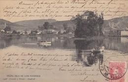 ESPAGNE. IRUN. ISLA DE LOS FAISANES. ANNÉE 1905 + TEXTE - España