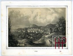 Original Lithographie Von 1846, Ansicht Der Hauptstadt Lemberg In Galizien (L42) - Lithographies