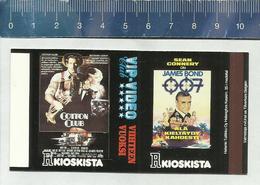 FILM AFFICHE - JAMES BOND 007 - SEAN CONNERY - COTTON CLUB - RICHARD GERE - FRANCIS COPPOLA Finnish Matchbox Skillet - Boites D'allumettes - Etiquettes