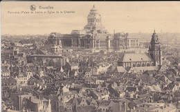 BELGIQUE---BRUXELLES--panorama ( Palais De Justice Et église De La Chapelle )---voir  2 Scans - Panoramische Zichten, Meerdere Zichten