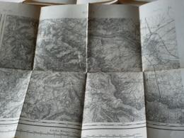 Région De REIMS  CARTE TOPO. ETAT-MAJOR TYPE 1889 REIMS ET OUEST/SUD-OUEST DE REIMS - Carte Topografiche