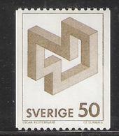 Sweden 1982 Non-Euclidean Figurative Constructions By Oscar Reutersvärd (1915-2002), Artist Mi 1183 MNH(**) - Schweden