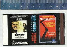 FILM AFFICHE  - STEPHEN KING - CHILDREN OF THE CORN - THE SHINING - FINNISH MATCHBOX SKILLET - Boites D'allumettes - Etiquettes