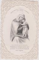 Image Religieuse Canivet Marie Protege L'ame  Qui La Choisit Pour Mere  Bouasse-lebel Paris - Devotion Images