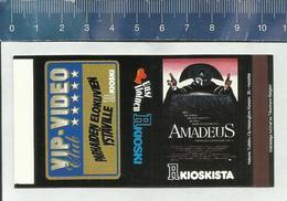FILM AFFICHE - AMADEUS - FINNISH MATCHBOX SKILLET - Boites D'allumettes - Etiquettes