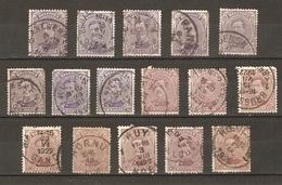 Belgique 1915/19 - Albert Ier Cob 139/140 - Petit Lot De 16° - Ciney - De Panne - Ruyen - Hornu - Huy - Louvain- Roeulx - 1915-1920 Albert I