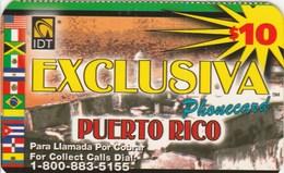 Puerto Rico - $10 EXCLUSIVA Phonecard - Puerto Rico