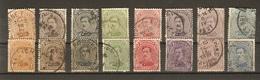 Belgique 1915/20 - Albert Ier - Petit Lot De 16° - Série Complète 135/41/183 En 2 Nuances - 1915-1920 Albert I