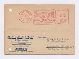 DDR AFS - LEIPZIG, Julius Linke Haus- U. Küchengeräte 1956 Auf Firmenkarte - DDR