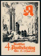 """90554) Dt. Reich 1937, Propagandakarte, """"Dt. Apothekertag Essen"""", Colorierte Karte Mit SST - Allemagne"""