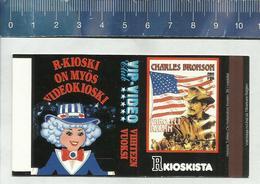 FILM AFFICHE CHARLES BRONSON BORDERLINE MOVIE PICTURE FILMS Finnish Matchbox Skillet - Boites D'allumettes - Etiquettes