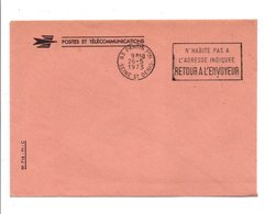 OBLITERATION MECANIQUE DE SERVICE - RETOUR A L'ENVOYEUR PANTIN 1973 - Marcophilie (Lettres)